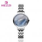 Kezzi нержавеющей стали женские часы цвет поверхности оболочки горный хрусталь дамы платье смотреть top brand кварцевые наручные часы kol саати