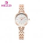 Luxury Brand KEZZI Женщины Горный Хрусталь Часы Моды Из Нержавеющей Стали Ремешок Кварцевые Часы Аналоговые Часы Relogio Feminino