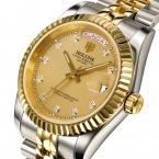 Мужская автоматические золото классические часы для мужчин из нержавеющей стали наручные часы Мужчины водонепроницаемый счетчик лучший бренд класса люкс механические часы