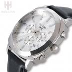Мужские кварцевые часы HOLUNS, модная топовая фирма, наручные часы, черный большой циферблат, кожа, мужские часы, топовая фирма, роскошные мужские часы
