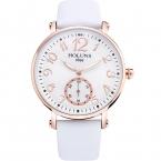 Holuns медсестры смотреть Лидирующий бренд часы для женщин Роскошные Кварц кожаный ремешок белый цифровой наручные часы женские часы