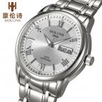 Люкс полный нержавеющей стали часы мужчины бизнес случайный кварцевые часы военные наручные часы водонепроницаемые  holuns relogio новый продажа
