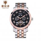 мужская мода минималистский атмосфера полые механические часы бизнес, посвященный водонепроницаемый