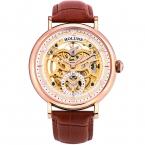 Автоматические механические мужские часы из нержавеющей стали кожа стекло сапфировое horloges mannen  holuns специальные роскошные bigest циферблат скелет
