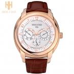 Большой циферблат водонепроницаемый автоматические цифровые кварцевые часы мужские корпус из нержавеющей стали платье спорт простой стиль holuns лучшие продажи wristwatche
