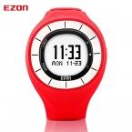 Ezon многофункциональный дамы случайные спортивные часы 5atm водонепроницаемый шагомер счетчик калорий женщин фитнес-наручные часы