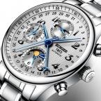 Швейцария BINGER часы мужчины люксовый бренд Несколько функций Moon Phase Календарь сапфир Механические Наручные Часы B-603-8