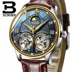 швейцарские механические мужские часы Бингер роль Элитный Бренд Скелет наручные сапфир Водонепроницаемый часы мужские часы мужской Reloj Hombre