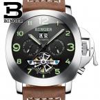 Швейцария luxury мужские часы БИНГЕР бренд часы многофункциональный военная glowwatch Турбийон Механические Наручные Часы B1170-2