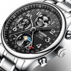 Швейцария BINGER часы мужчины люксовый бренд Несколько функций Moon Phase Календарь сапфир Механические Наручные Часы B-603-82