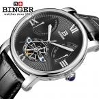 швейцарских мужчин Watch automatic Механические БИНГЕР Элитный бренд Relogio masculino наручные часы мужской Сапфир Мужские часы BG-0408