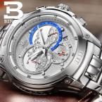 Швейцария мужские часы люксовый бренд наручные часы binger кварцевые часы полный нержавеющей стали хронограф diver glowwatch b6013