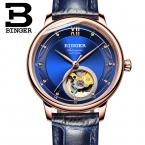 Швейцария Binger женские часы ультра-тонкий япония 90S5 автоматический movemt Tourbillon сапфир механические наручные часы B-1180W-2