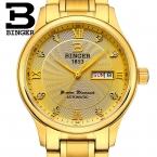 Швейцария мужские часы люксовый бренд часы binger световой кварцевые наручные часы полный нержавеющей стали водонепроницаемый b603b-8