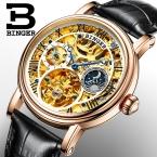 Швейцария БИНГЕР часы мужчины люксовый бренд Relogio Masculino водостойкий Турбийон Механические Наручные Часы B-1171-2