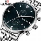 Швейцария мужские часы люксовый бренд Наручные Часы ПЕРЕЕДАНИЯ Кварцевые часы glowwatch полный нержавеющей стали Хронограф Diver B1122-2