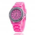 Силиконовые ЖЕНЕВА Смотреть Женщины Горный Хрусталь Часы Моды Случайные Кварцевые Часы Спортивные часы Relogio Feminino BWSB02