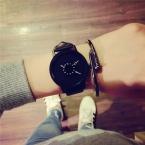 мода творческие часы женские и мужские кварцевые-часы  BGG бренд Уникальный дизайн набора влюбленных часы кожаные Наручные часы Часы