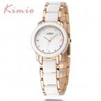 KIMIO роскошные женские Модные часы кварцевые часы, браслет Наручные часы браслет из нержавеющей стали женские часы с подарочной коробке