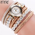 CCQ Женская Мода Горный Хрусталь Часы Роскошные Женщины Полный Кристалл Наручные Часы Кварцевые Часы Relogio Feminino  C43
