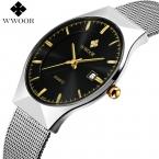 Новые мужские часы лучший бренд класса люкс 50 м Водонепроницаемый ультра тонкий Дата часы мужской стальной ремешок Повседневная Кварцевые часы мужские наручные часы Спорт