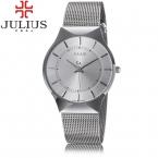 лучших марка Julius деловых мужские часы стали аналоговый кварцевые женщины одеваются наручные часы ультратонкий автокалендарь люксовый леди часы