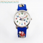 Уиллис мода ребенок водонепроницаемый 3D грузовик мультфильм дизайн аналоговые наручные часы Детские Часы Kid кварцевые наручные часы pengnatate