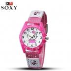 Hello Kitty дети часы детские часы мультфильм девочка Смотреть Кожа Детские часы Дети часы подарок Saat relogio reloj Montre