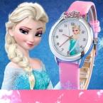 мультфильм детей смотреть Принцесса Эльза Анна часы для девочек любимый  подарок Relojes Mujer Relogio feminino