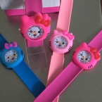 10 конфеты цвета ярко-розовый/розовый/цвет hello kitty, вахта девушки мультфильм дети часы силиконовой резины наручные часы