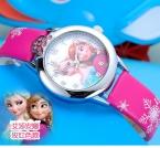новых relojes мультфильм часы детям принцесса эльза анна часы мода дети милые relogio кожаный кварцевые наручные часы девушка подарок