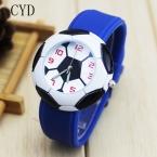 Прямая поставка милые 3D Футбол Мультфильм дети часы для девочек резиновые детские часы мальчиков Дешевые Синий кварцевые Wristwat