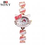 Hello Kitty наручные часы Дети часы Симпатичные Детские часы девочка мультфильм браслет часы подарок Saat Montre Relogio Reloj