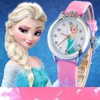 Relogio feminino  Новинка Relojes мультфильм детей Часы Принцесса Эльза Анна часы модная детская одежда симпатичный кожаный кварцевые часы девушка