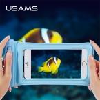 USAMS Ipx8 Водонепроницаемый телефона прозрачный touchable Сумка Пляжная водителя подводный телефон сумка для Samsung Iphone 5 6 7 Plus