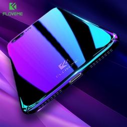 FLOVEME роскошный Плакировкой синий-луч света градиент цвета Чехол для айфона 7  7 плюс 6 6S плюс 4.7and5.5 Ультра прозрачная гель задняя крышка