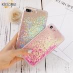 Kisscase крышка для iPhone 7 iPhone 6 6 S плюс 5 5S SE дело Блеск зыбучие пески прозрачный телефон чехлы для iPhone 7 Plus Аксессуары
