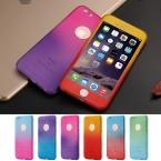 Kisscase Градиент Жесткий пластиковый Чехол для iPhone 6 6 S i6 плюс 4.7 5.5 360 полный охват чехол для Iphone 7 7 Plus телефон стеклянной пленки