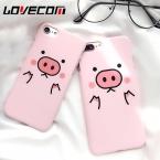 Мультфильм милый розовый свиней телефон назад чехол для iPhone 5 5S SE 6 6 S 7 7 Plus матовая Жесткий PC мобильного телефона сумки и чехлы