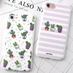 Корея Мода Полосой Кактус Телефон Чехол для Apple Iphone 6 6 s 6 плюс 6 splus 7 7 Плюс Мягкие TPU Задняя Крышка Коке YC2048