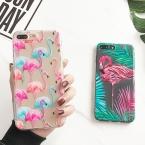 LOVECOM Животных Фламинго Телефон Case Коке Для iPhone 5 5S SE 6 6 S 7 Плюс Мягкие Прозрачные Силиконовые Carcasas Капа крышка