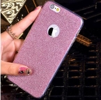 Горячий Блеск Порошок Ультра Тонкий Мягкий ТПУ Телефон Задняя Крышка Чехол Для Телефона для iPhone 7 Для iPhone 5 5S SE 6 6 S 7 Плюс YC1289