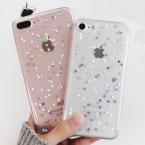 LOVECOM Телефон Случае Для iPhone 5 5S SE 6 6 S 7 Плюс горячий Блеск Порошок Блестка Сердце Любовь Прозрачный Мягкий ТПУ Телефон Задняя Крышка