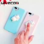 Lovecom телефона чехол для iPhone 5 5S SE 6 6 S 7 Plus 3D забавные мягкими игрушками Давление выпуска конфеты Мягкие ТПУ Сердце отверстия задняя крышка