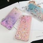 Lovecom Сердце Любви звезды блеск звезд динамический жидкость зыбучие пески Мягкие TPU телефон задняя крышка для iPhone 5 5S se 6 6 S 7 Plus
