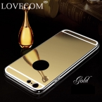 Зеркало Телефон Случае Для iPhone 4 4S 5 5S 6 6 s 6 Плюс 6 sPlus Алюминиевый Акриловые Мягкие TPU Защитная Крышка Coque оптовая