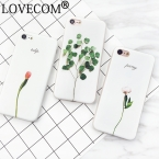Мода Цветочные Окрашенные 3D Листья Телефон Случаях для iPhone 7 7 плюс 6 6 s плюс Мягкие Силиконовые Цветок Задняя Крышка Коке капа