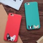 Мультфильм милый карман собаки телефон чехлы для iPhone 5 5S SE 6 6 S Plus задняя крышка красный зеленый цвет собаки Капа Fundas Coque YC1933