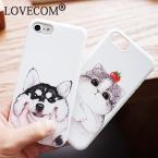 Лидер продаж Мода милый кот собака чехол для Apple iPhone 6/6 S плюс 7 7 Plus сотовый телефон случаях мягкий ТПУ Мультфильм задняя крышка Coque