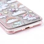Мультфильм Радуга лошадь динамический блестка Блеск Звезды воды Жидкий чехол для iPhone 5 5S SE 6 6 S 7 7 плюс пластиковые крышки YC1990